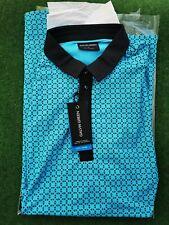 Galvin Green Monte V8+ Polo Shirt Size UK Medium Bluebird/ Black