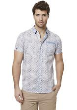 Men's Buffalo David Bitton Short Sleeve Button Up Shirt Blue S #NGZMA-M171