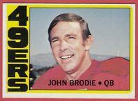 1972 Topps  # 220 John Brodie - San Francisco 49ers - Box 734-110