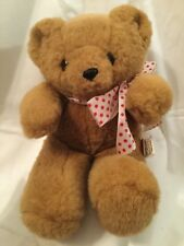"Hallmark Heartline 9"" Brown Bear 1990 Plush Stuffed Animal Toy"