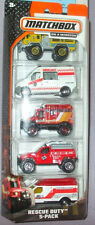 2014 Matchbox On A Mission 5 pk Various Rescue Duty Vehicles 3+ 1-64 Boys & Girl