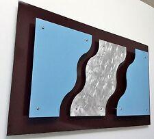 "CONTEMPORARY MODERN METAL WALL ART TITLED ""3D RIVERS"""