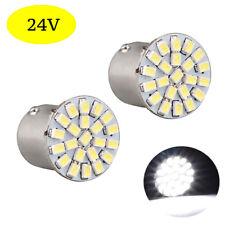 2 ampoules à LED   P21w / BA15s  24V  BLANC  pour Camion  Poids lourd