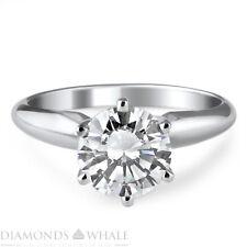 Cut White Gold 14K Bridal, Enhanced Engagement Diamond Ring 1.01 Ct Si2/D Round