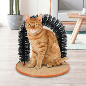Pet Cat Arch Hair Grooming Scratcher Toy Self-Groomer Toy Massage Scratching