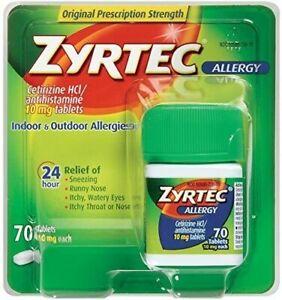 ZYRTEC ALLERGY 70 TABLETS *EXP 10/21*