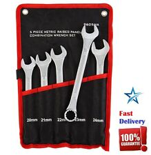 X-Large Combination Metric Wrench Set Oversized Bolts Nuts 20, 21, 22, 23, 24 mm