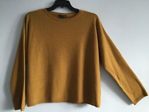 NWT $398 Eileen Fisher ARNICA Italian Cashmere  Sweater Crew Neck Top L