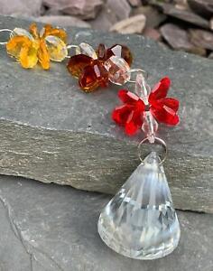 Chakra Crystal Bell Suncatcher Window Hanging Rainbow Pendant Home/Garden Decor
