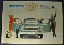 1963 Volvo 544 Catalog Sales Brochure Excellent Original 63