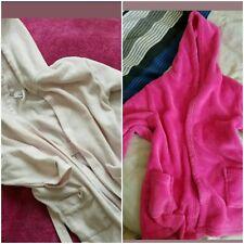 18-24 months 3-4 years girl pink bathrobe with hoodie from george primark bundle