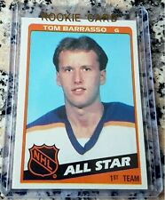 TOM BARRASSO 1984 Topps #1 Draft Pick Rookie Card RC Sabres Penguins Boston MA