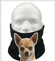 Chihuahuas Gift Pets Thermal Fleece Scarf Snood Gift Neck Warmer Chihuahua