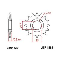 JT 525 16T Front Sprocket for Yamaha 2006-17 YZF R6 YZF-R6 JTF1586.16