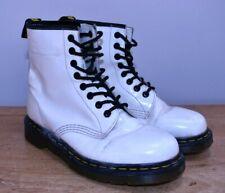 Dr Martens White 8 Eyelet Original Lace Up Boots Doc Punk Skins DMs Size UK 6
