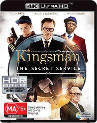 KINGSMAN THE SECRET SERVICE 4K ULTRA HD - LIKE NEW COLIN FIRTH FREE POST