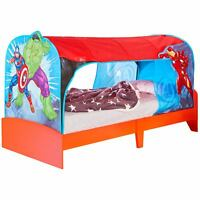 MARVEL AVENGERS OVER BED TENT DEN SINGLE MATTRESS BEDROOM KIDS