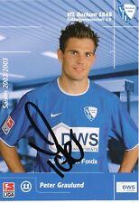 Peter Graulund  VFL Bochum  Fußball Autogrammkarte signiert 353904