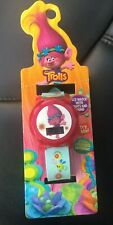 Trolls Lcd Watch With Flashing Lights and Sound Kids New