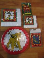 5pc Lot 1994 Beach Lion King Grubs Birthday Party Goods Multi-color  NOS