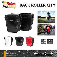 NEW 2017 ORTLIEB Back Roller CITY (Pair) Bike Pannier QL1 100% IP64 WATERPROOF