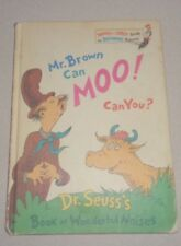 CHILDREN'S BOOK - DR SEUSS'S MR. BROWN CAN MOO! CAN YOU? - 1970 - GOOD CONDITION
