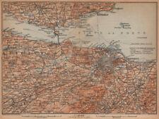 EDINBURGH ENVIRONS. Firth of Forth. Fife Leith Dunfermline. Scotland 1906 map