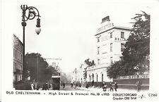 Old Cheltenham Postcard - High Street & Tramcar No.18 c1905 - Gloucester  S508