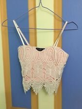 size 6 (xs) pink sweetheart crop top