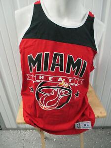 MITCHELL & NESS MIAMI HEAT BASKETBALL ORIGINAL LOGO XL BLK RED TANK TOP NWOT