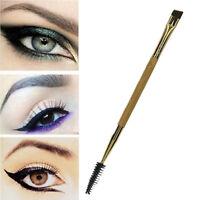 Bamboo Eyelash Comb and Double Ended Angled Eyebrow Brush Make Up Tools