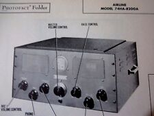 AIRLINE 74HA-8200A  AMP AMPLIFIER PHOTOFACTS PHOTOFACT