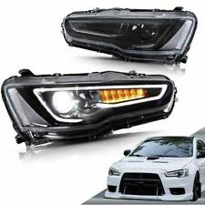 LED Headlights For Mitsubishi Lancer & EVO X 2008-2017 Audi Style Blackout Light