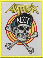 ANTHRAX - N.O.T. Man Skull - Woven Patch / Aufnäher