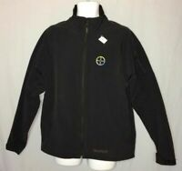 Men's Marmot Softshell Jacket Size L Zip Front Black Large