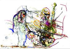 """Triumphantly"" Original Jazz Print created onstage by Jeff Schlanger"