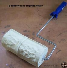 Concrete Landscape Curbing Basketweave Roller Stamp New