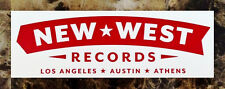 NEW WEST RECORDS Ltd Ed New RARE Logo Sticker +FREE Folk Indie Country Stickers!