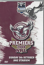 Manly Sea Eagles 2008 NRL Grand Final PREMIERS DVD BRAND NEW