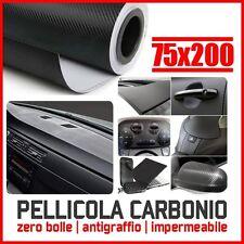PELLICOLA CARBONIO 3D ADESIVA ADESIVO FOGLIO 75x200 CM NERA WRAPPING AUTO MOTO