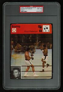 PSA 8 FLOYD PATTERSON with MUHAMMAD ALI Sportscaster Boxing Card #18-13