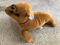 "NWT Curto Toy Brown Sea Lion Seal 18""  Plush Stuffed Animal Realistic Toys R Us"