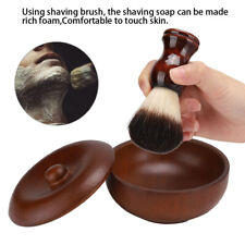 Men's Beard Shaving Cream Soap Bowl + Soft Hair Brush Beard Cleaning Tools Set