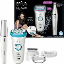 Braun Silk Epil 9 Womens Epilator Wet & Dry Facial Hair Removal 9558 / 9-558