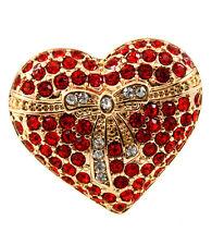 Crystal Heart Stretch Fashion Ring