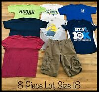 Boys Clothing Lot, Size 18, 8 Items, Minions, Divided, Levi's, Helium