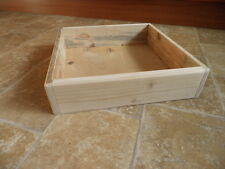 Wooden Soap Mould Square shape / Unpainted /Made from Reclaimed Wood.