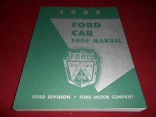 1955 FORD & THUNDERBIRD SHOP SERVICE REPAIR MANUAL 55 FAIRLANE SUNLINER T-BIRD