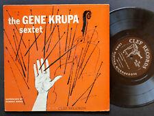 "GENE KRUPA Sextet #2 LP CLEF MGC-147 US 1954 MONO 10"" Ben Webster Teddy Wilson"