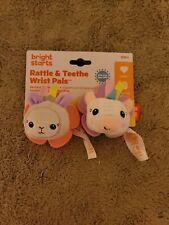 Bright Starts Rattle & Teethe Wrist Pals Toy Unicorn & Llama Newborn+